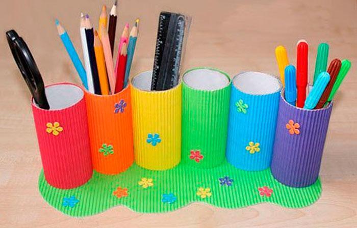 Стильная картонная карандашница