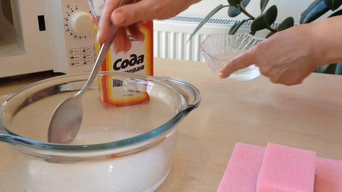 способ чистки содой