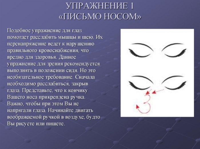 письмо носом
