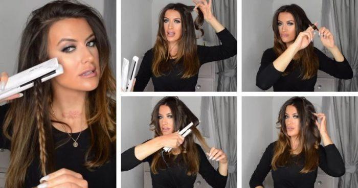 Локоны при помощи утюжка для волос